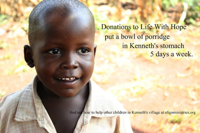 Life with Hope sponsorship through Align Ministries in Uganda feeds children and gives them hope