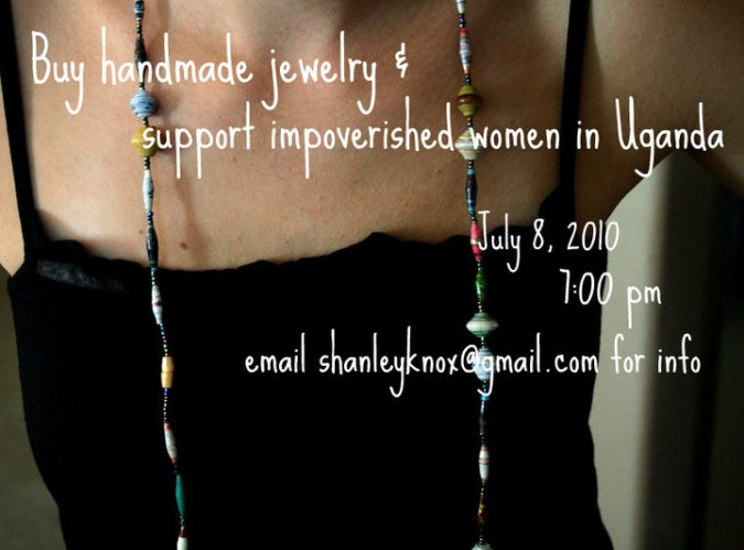 buy handmade jewelry and support impovershed women in uganda