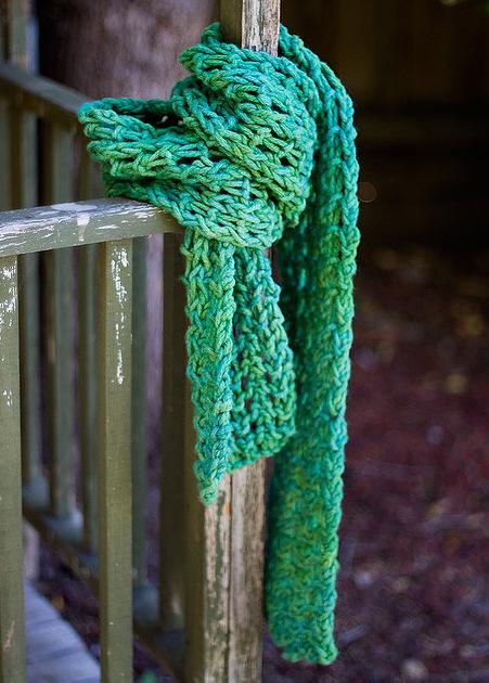hand dyed yarn scarf