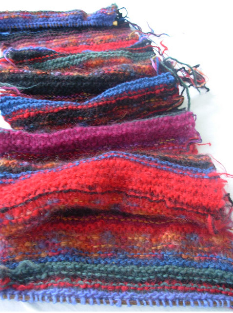 recycled scarf knit