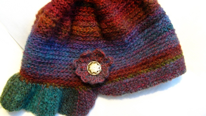 handmade crochet hat in lion brand yarn amazing ruby - freeform original pattern