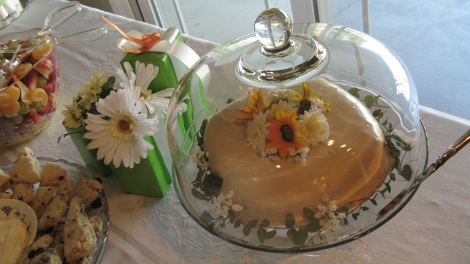 gluten free chocolate cake - daisies, flowers - baby shower