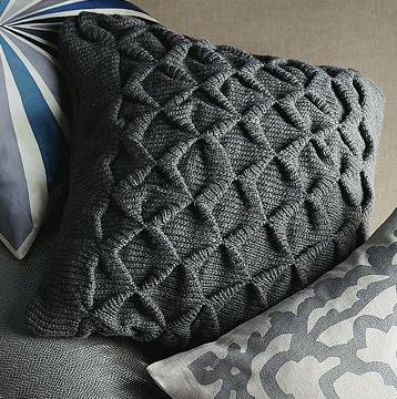 Sculpted Origami Pillow Cover via West Elm