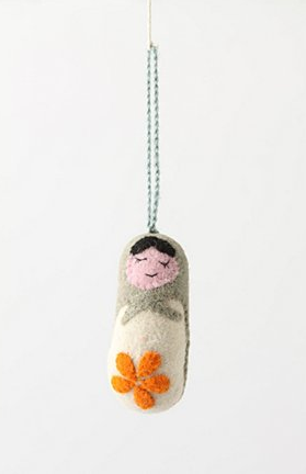 Matryoshka Ornament, Grey via anthropologie