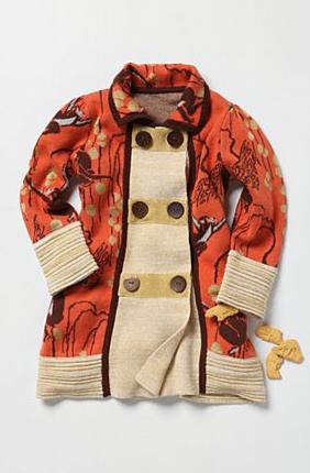 Monkey Business Coat via anthropologie kids