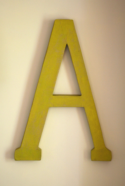 via Telling Stories/Hettle on Flickr -- typography, letters, decor, interior
