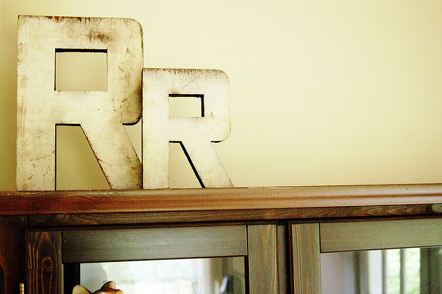 via melissann on flickr - typography, letters, decor, interior design
