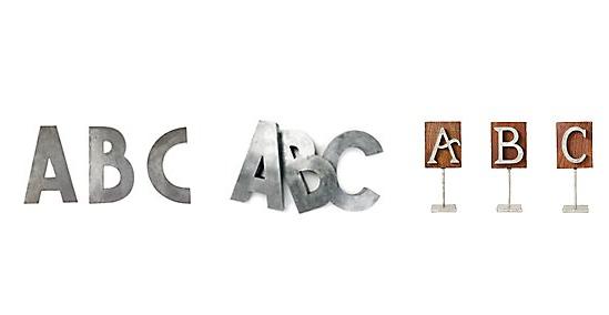 letters via anthropologie