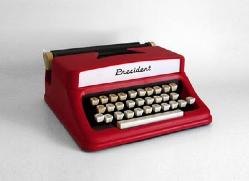 1960's Tom Thumb President Typewriter for sale on hindsvik, as featured on poppytalk