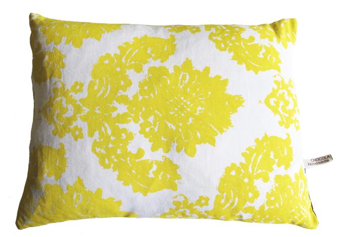 handmade vintage linen and damask pillow cushion via chocolate creative