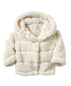 little girl's hooded fur coat via baby GAP