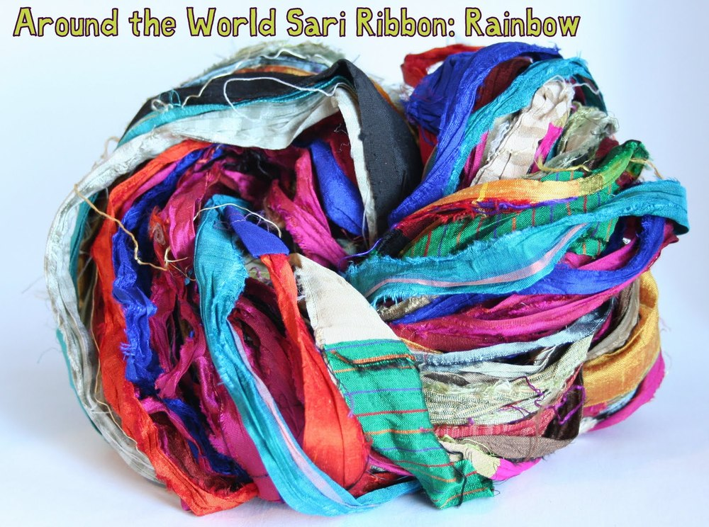 Darn Good Yarn - recycled silk yarn, recycled silk ribbon, exotic craft supplies, recycled sari