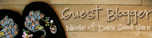 Guest blog - Nicole of Darn Good Yarn - Recycled Sari Ribbon