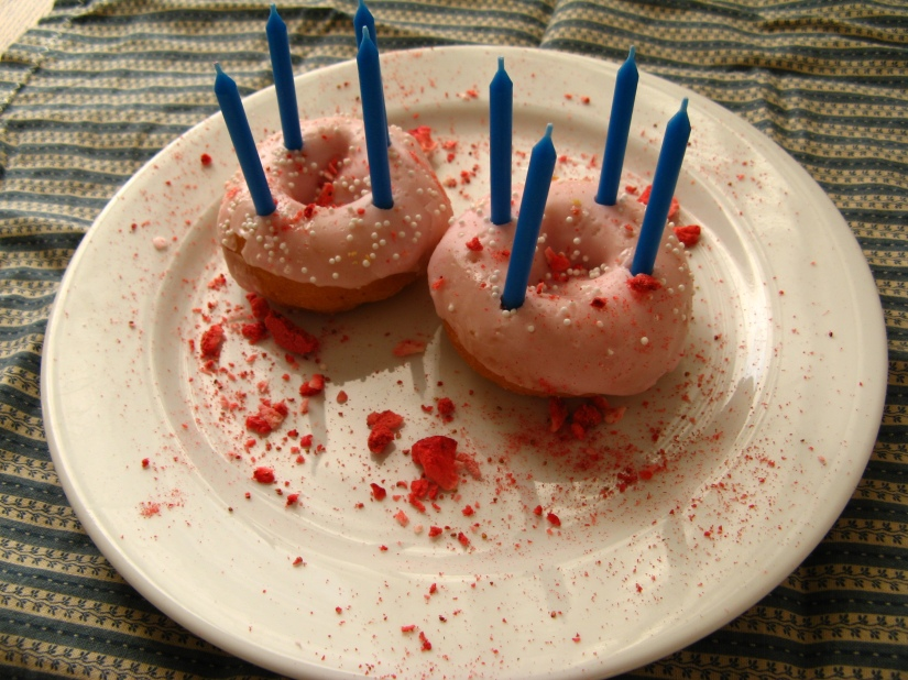 birthday donuts instead of a birthday cake