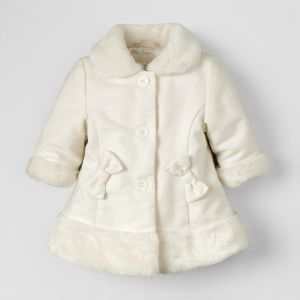 White and Fluffy Coat - Dressy Coat from the Children's Place - Infant Girl Newborn