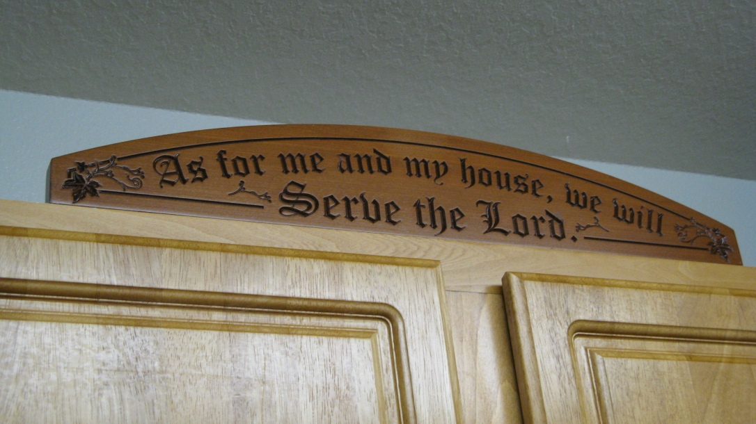 As for me and my house, we will serve the Lord - carved wooden plaque