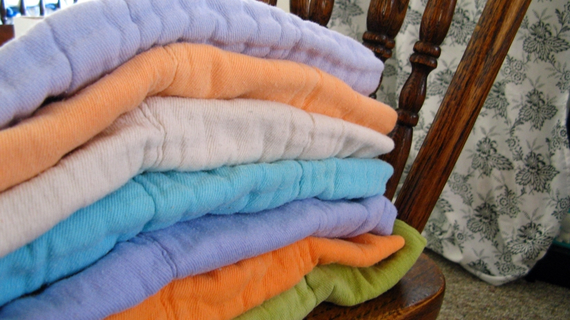 dyed prefold cotton cloth diapers