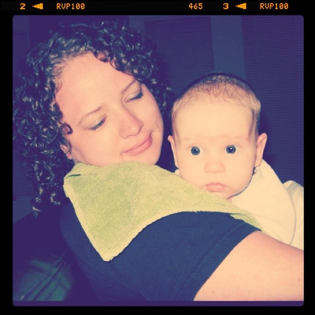 Auntie Lauren and Baby Aveline (and Lauren's new haircut courtesy yours truly!)