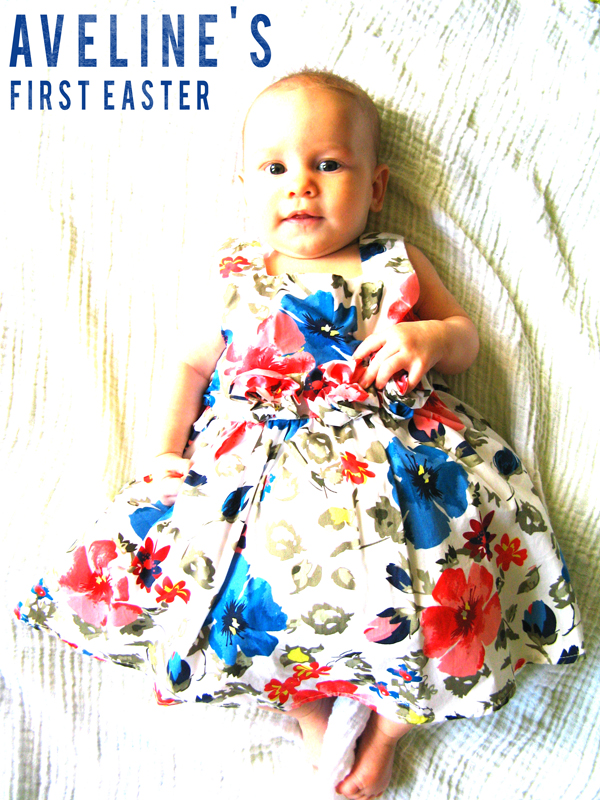 3 month old Aveline - Baby's First Easter - Dress from The Children's Place