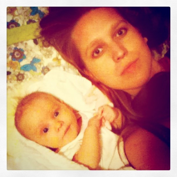 Gina (Oaxacaborn blog) and daughter Aveline