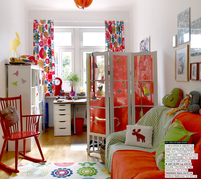 Ikea Family Live Spring 2011 Magazine   Green And Orange Living Room    Image From Page Part 41