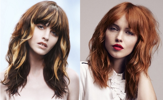 shaggy layered long hair with bangs via ukhairdressers