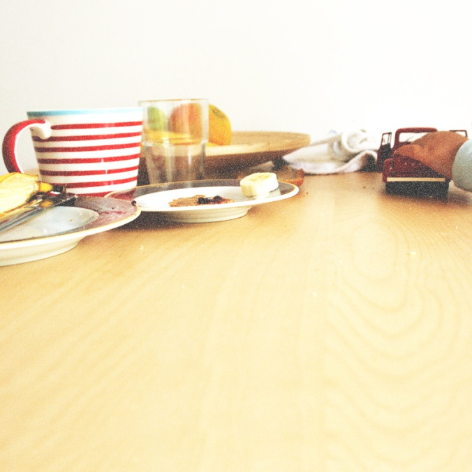 Artsy Ants - Sylvia - Photograph of  Child's Hand and Breakfast Table