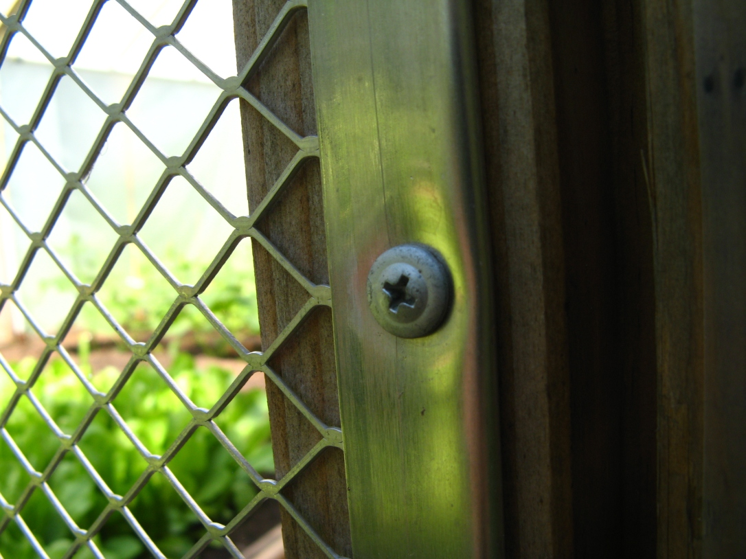 Door to hothouse/greenhouse garden