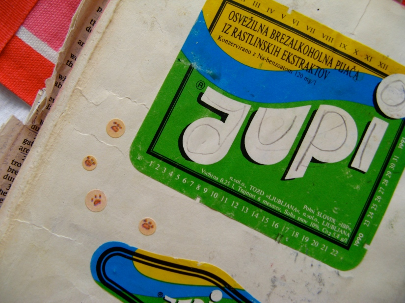 Yupi soda beverage sticker label from Slovenia, the former Yugoslavia