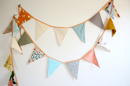 Pattern Fabric Bunting Pendant Flags via Lovely Morning - Textiles Board on Oaxacaborn