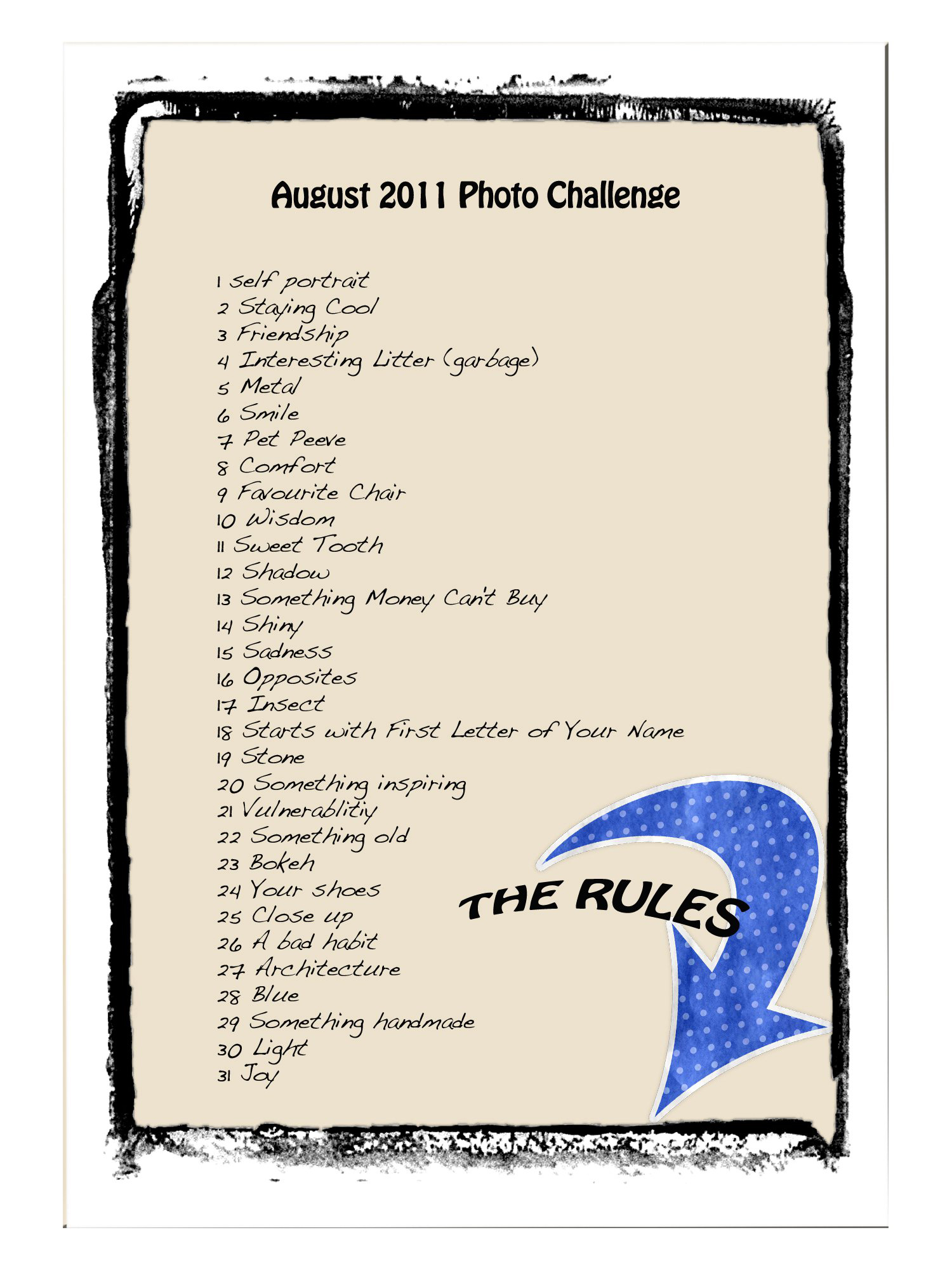 A Photo A Day In August Monthly Photo Challenge The