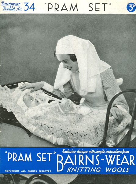 Bairns-Wear Knitting Wools 1930s Pram Set