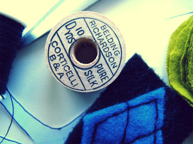 Oaxcaborn on Etsy - Work in Progress - Vintage Silk Thread Spool