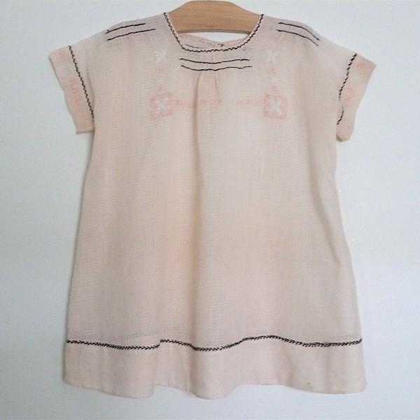 peach cotton gauze 1930 baby dress via belle heir vintage