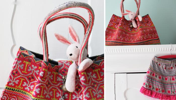 thailand textile bag and skirt via kinderkamer on bloesem kids