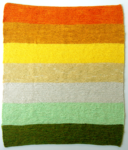 Citrus Baby Blanket Kit via the Purl Bee