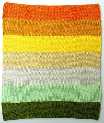 Citrus Baby Blanket Kit via the Purl Bee