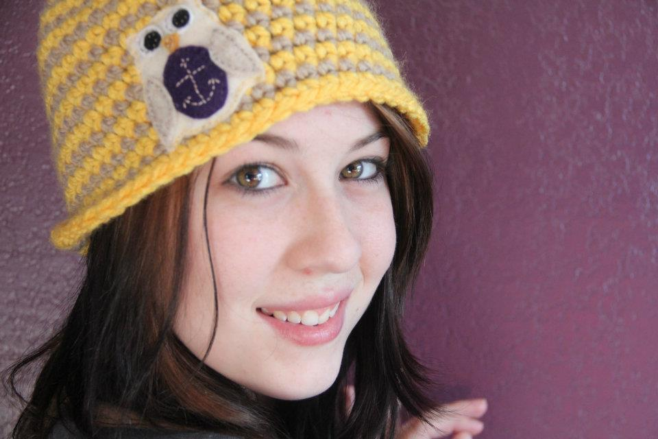 Custom Yellow Striped Owl Hat - The Seafaring Owl