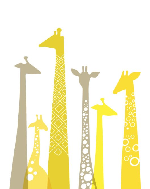 Giclee Giraffes via The Paper Nut on Etsy