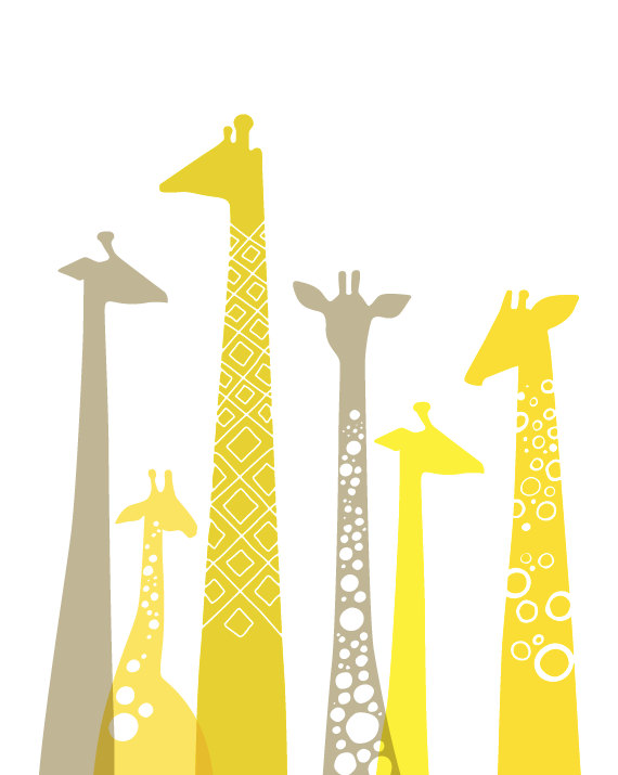 Giclee Giraffes via The Paper Nut on Etsy