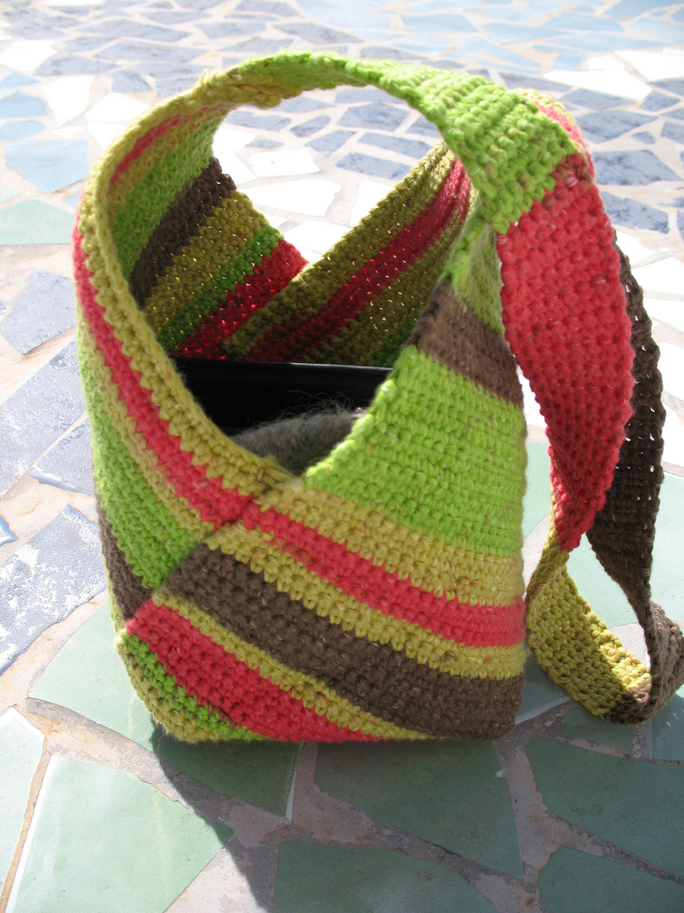 Japanese Inspired Canarian tote - Crochet masa bag - how to