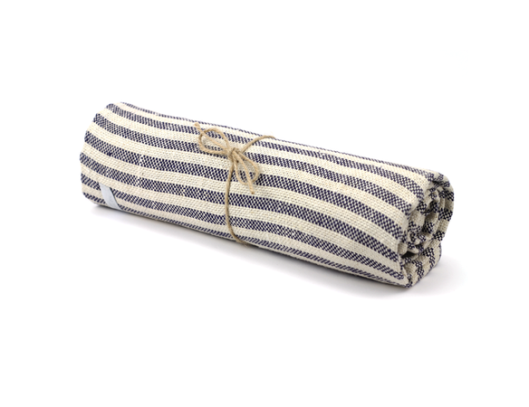 Fog Linen striped towel via Old Faithful on {frolic!}