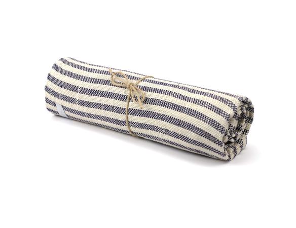 Fog Linen striped towel via Old Faithful on {frolic!}