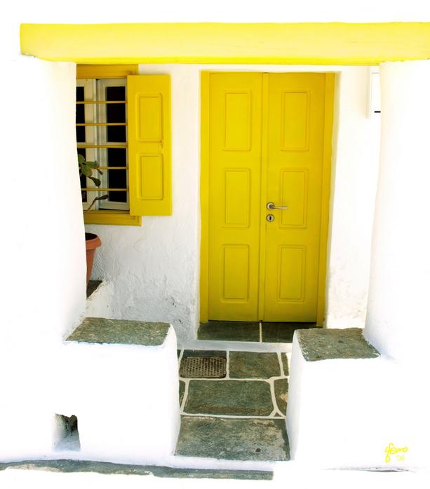 House facade at Old Kastro village in Sifnos island, Western Cyclades, Greece via Gargaro on FLickr