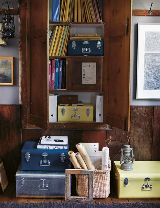 Toast - House + Home Autumn 2011 - Bookshelf and Suitcases