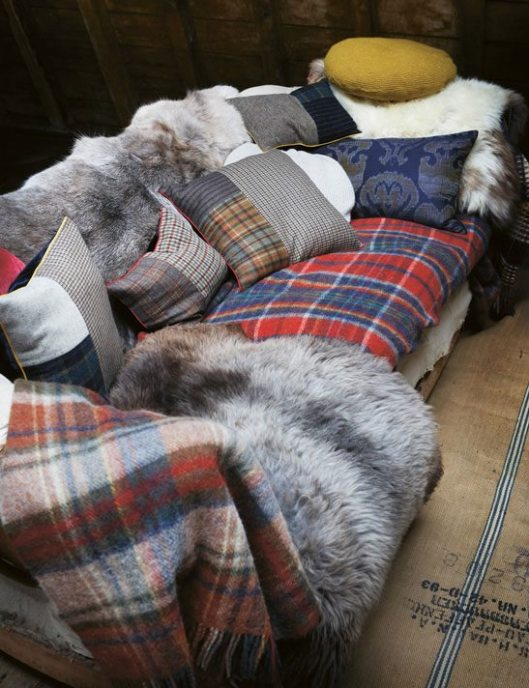 Toast - House + Home Autumn 2011 - Fur and Wool Plaid Throws