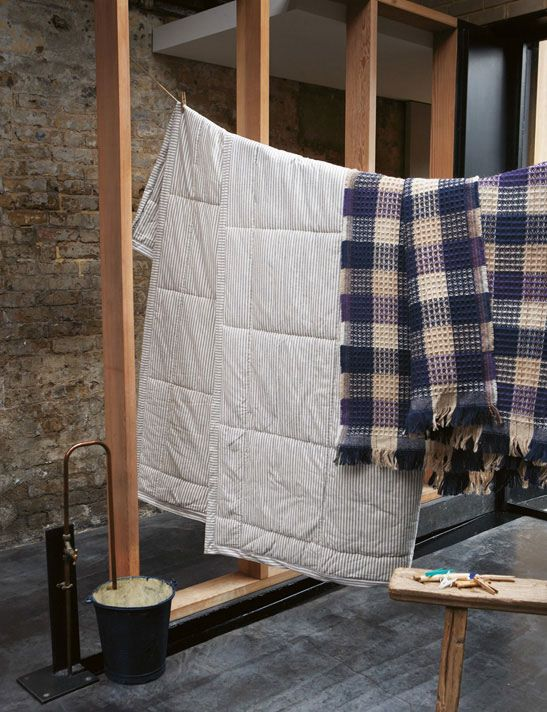 Toast - House + Home Autumn 2011 - Textiles Hanging - Stripes and Plaid