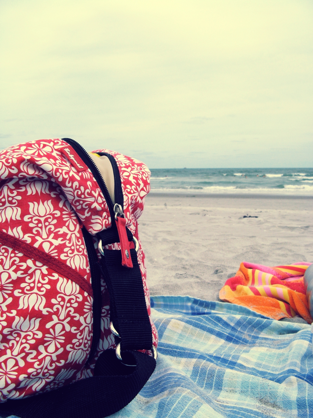 Babymel UK Diaper Bag on a Florida Beach
