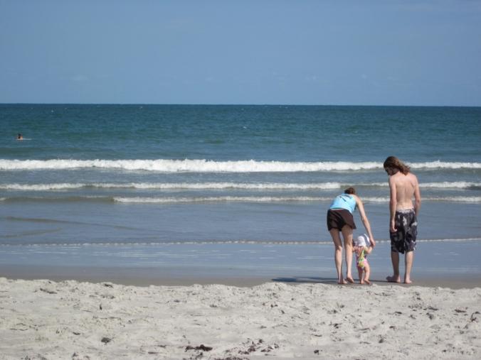 Aveline's first steps in the Atlantic Ocean