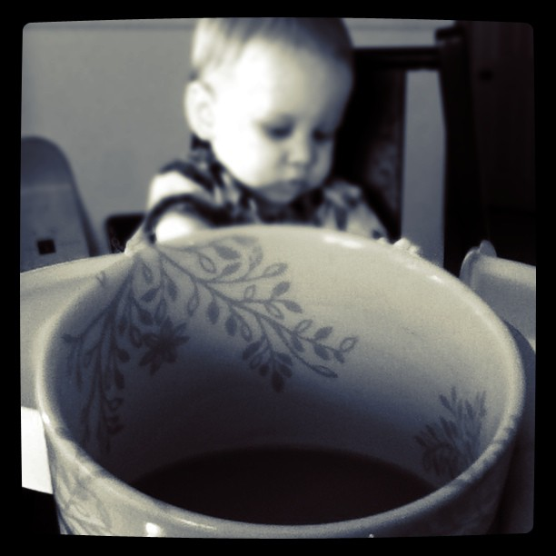 Coffee and Baby - Wordless Wednesday